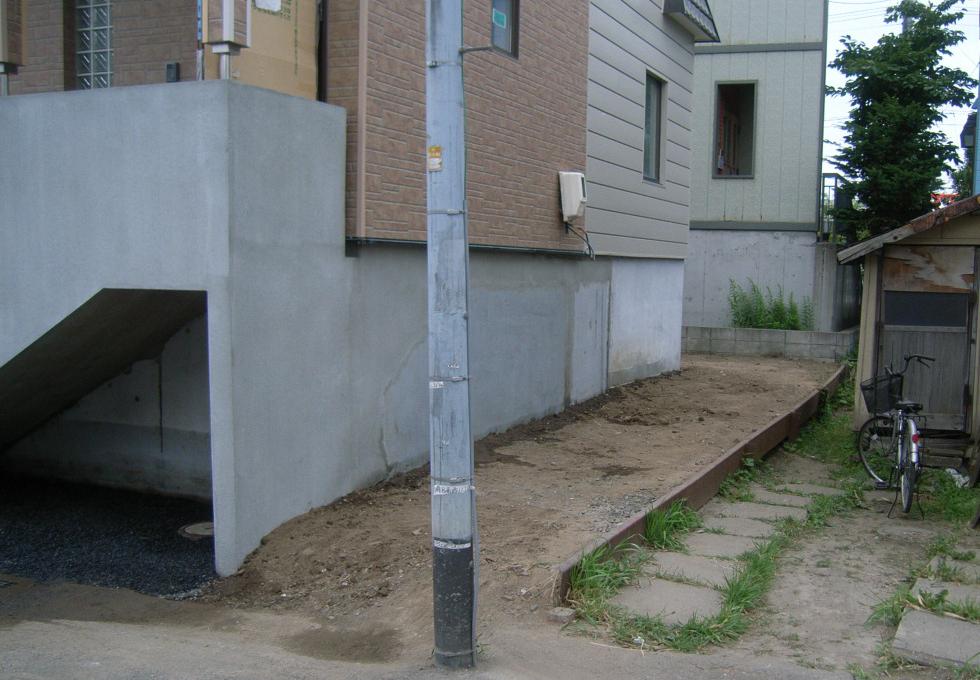 電気式ロードヒーティングの舗装工事施工前の写真