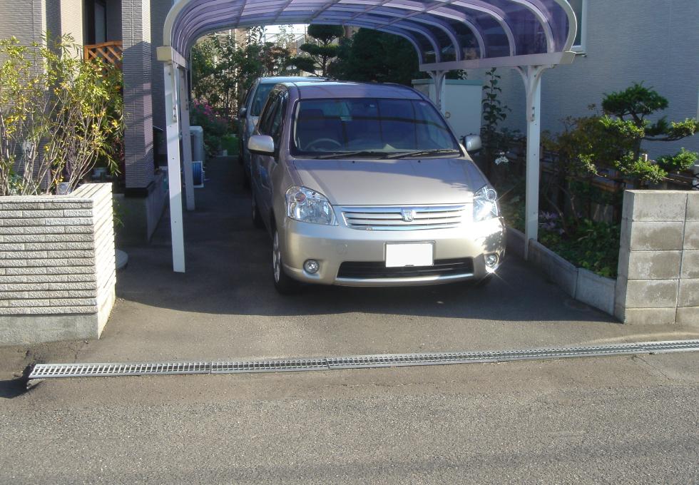 カーポート電気ロードヒーティング工事(札幌市北区)施工前の写真