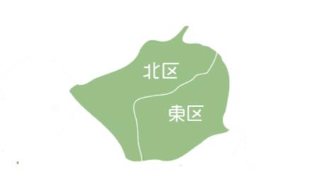札幌市北区、東区の地図